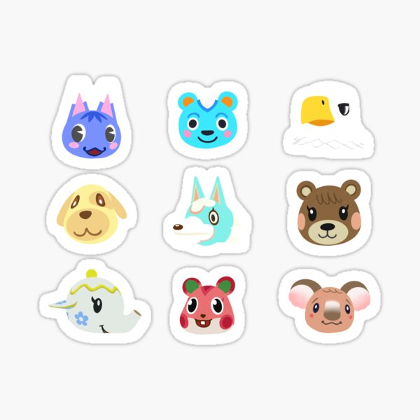 Handrawn Animal Crossing Villageres Sticker Pack Sticker
