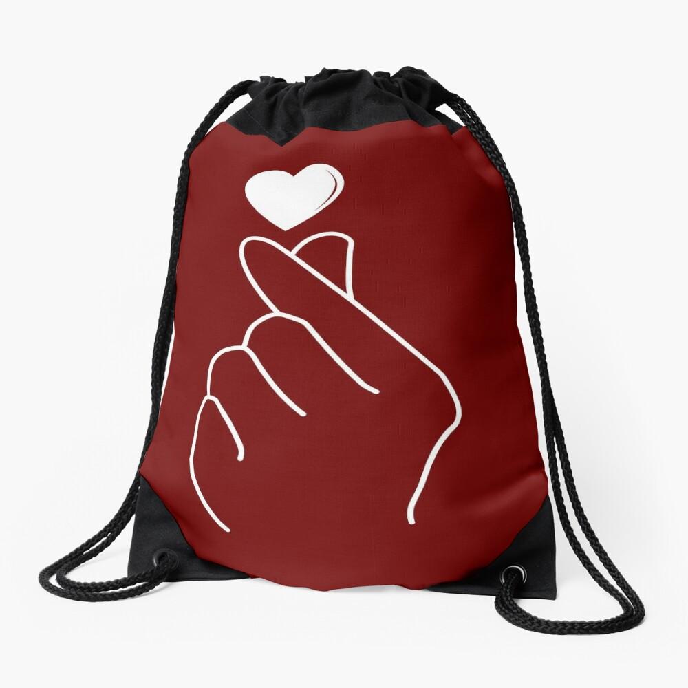 Finger Heart Korean Drawstring Bag