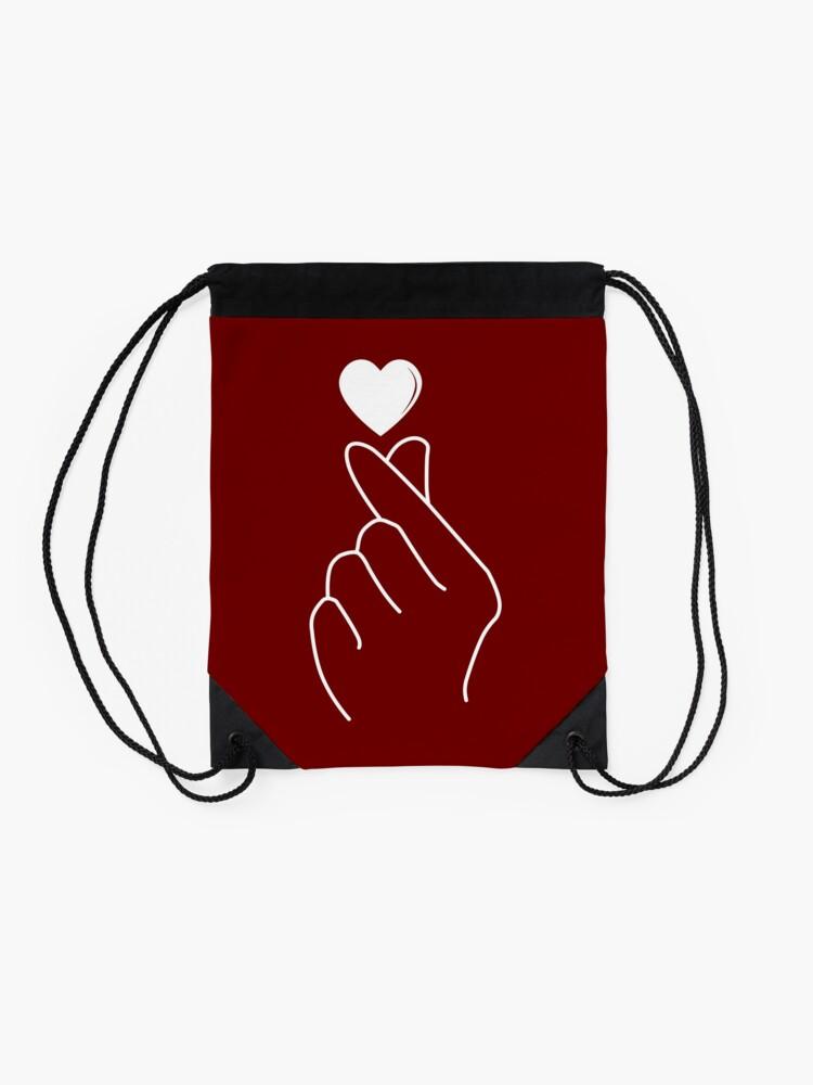 Alternate view of Finger Heart Korean Drawstring Bag