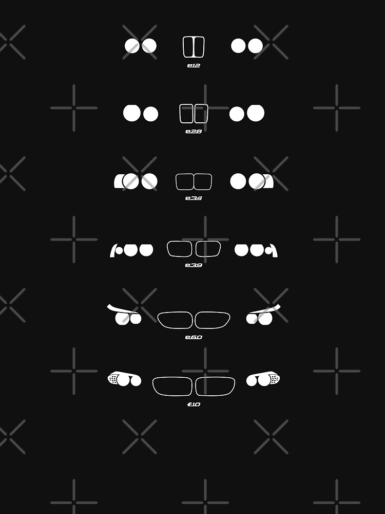 5 Heritage, 1972-Present day (E12, E28, E34, E39, E60, F10) Grungy vignette backgrounH | Unisex T-Shirt