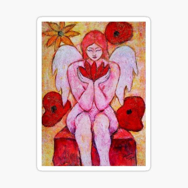 Zahra, Angel image part of an Angel oracle card deck - Renate van Nijen Sticker