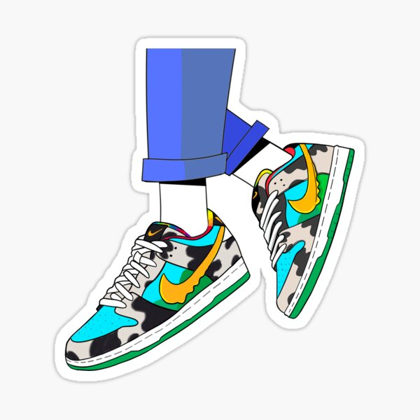 Ben & Jerry's Chunky Dunky SB Dunk Collaboration  Sticker