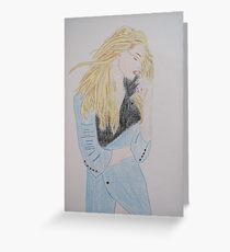 Loving Her Blue Coat Greeting Card