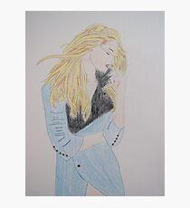 Loving Her Blue Coat Photographic Print