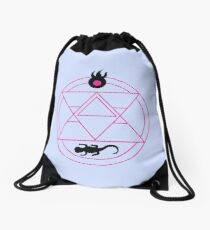 Flame Alchemy Symbol In Pink Drawstring Bag