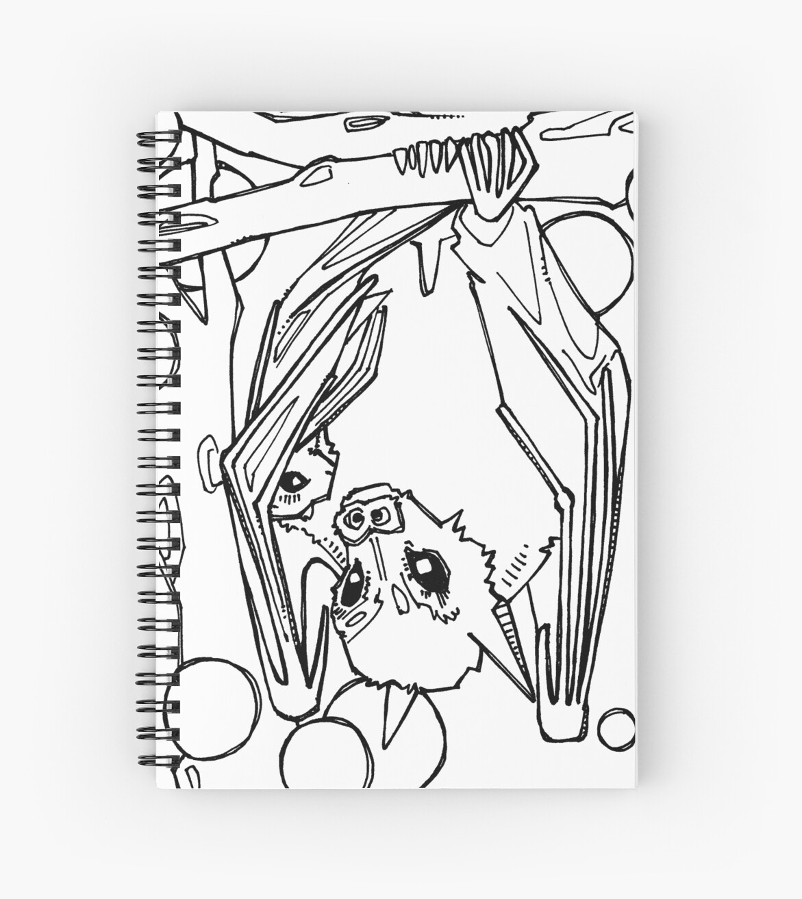 Dayak Fruit Bat Coloring Book Page