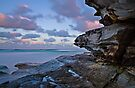 Tamarama Cliff sunset by bazcelt