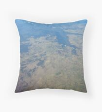 Earth from Sky Throw Pillow