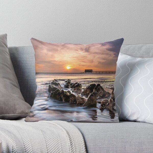 Bembridge Lifeboat Station Sunrise Isle Of Wight Throw Pillow