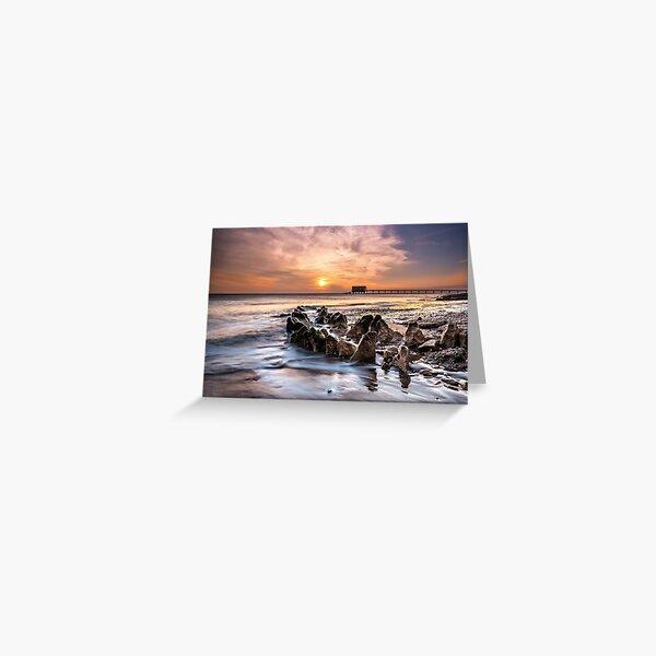 Bembridge Lifeboat Station Sunrise Isle Of Wight Greeting Card