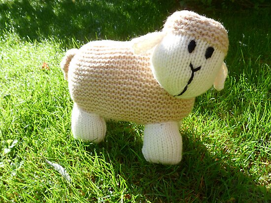 Hand Knitted toy Sheep by mrsmcvitty