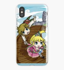 Skyward Sword in the style of The Wind Waker iPhone Case