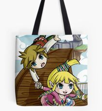 Skyward Sword in the style of The Wind Waker Tote Bag