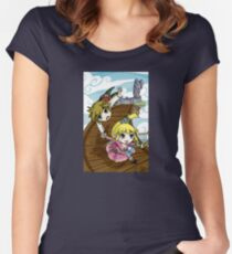 Skyward Sword in the style of The Wind Waker Women's Fitted Scoop T-Shirt