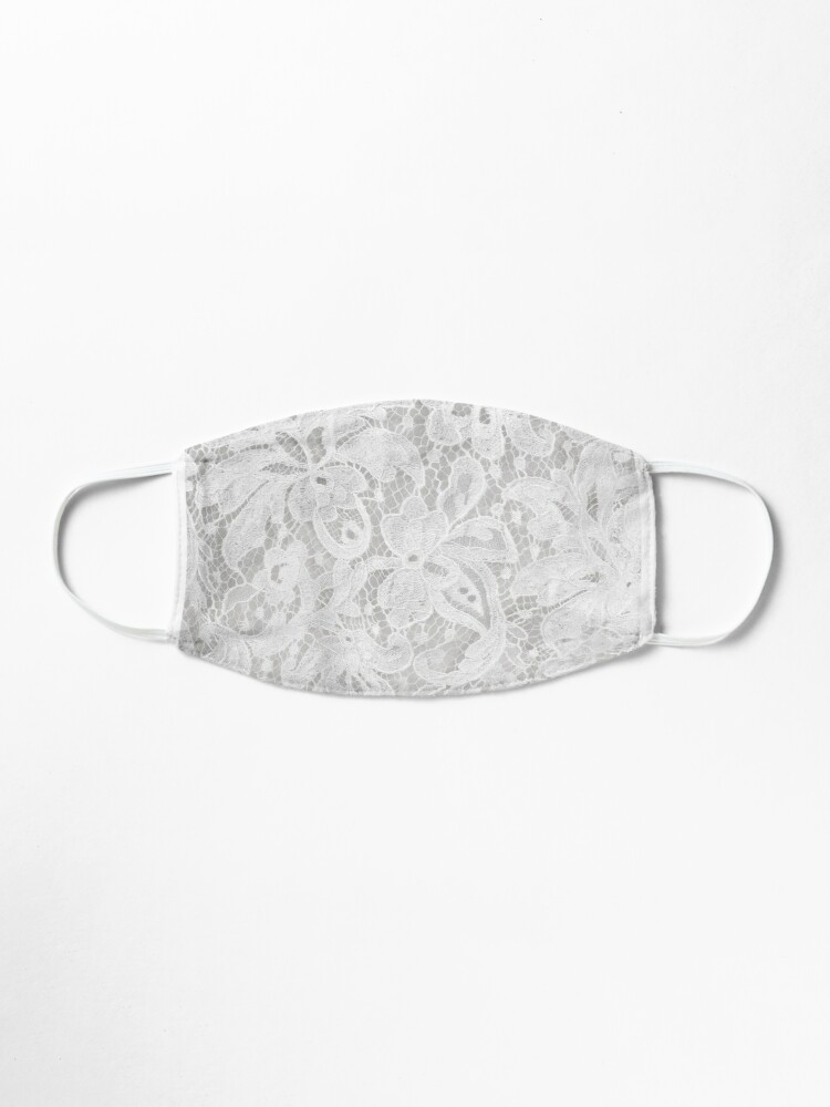 Alternate view of white lace  Mask