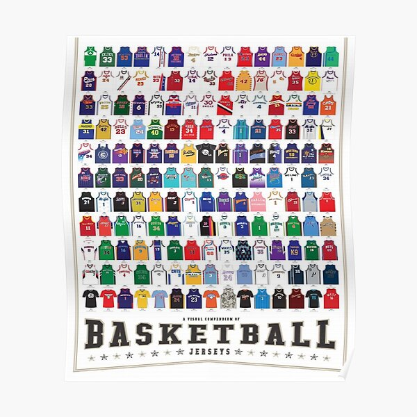 Nba Legends Jersey Póster