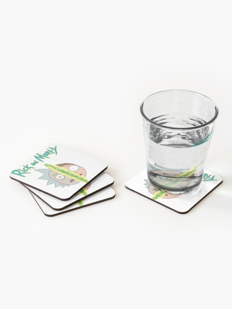 Alternate view of Rick and Morty face off Coasters (Set of 4)