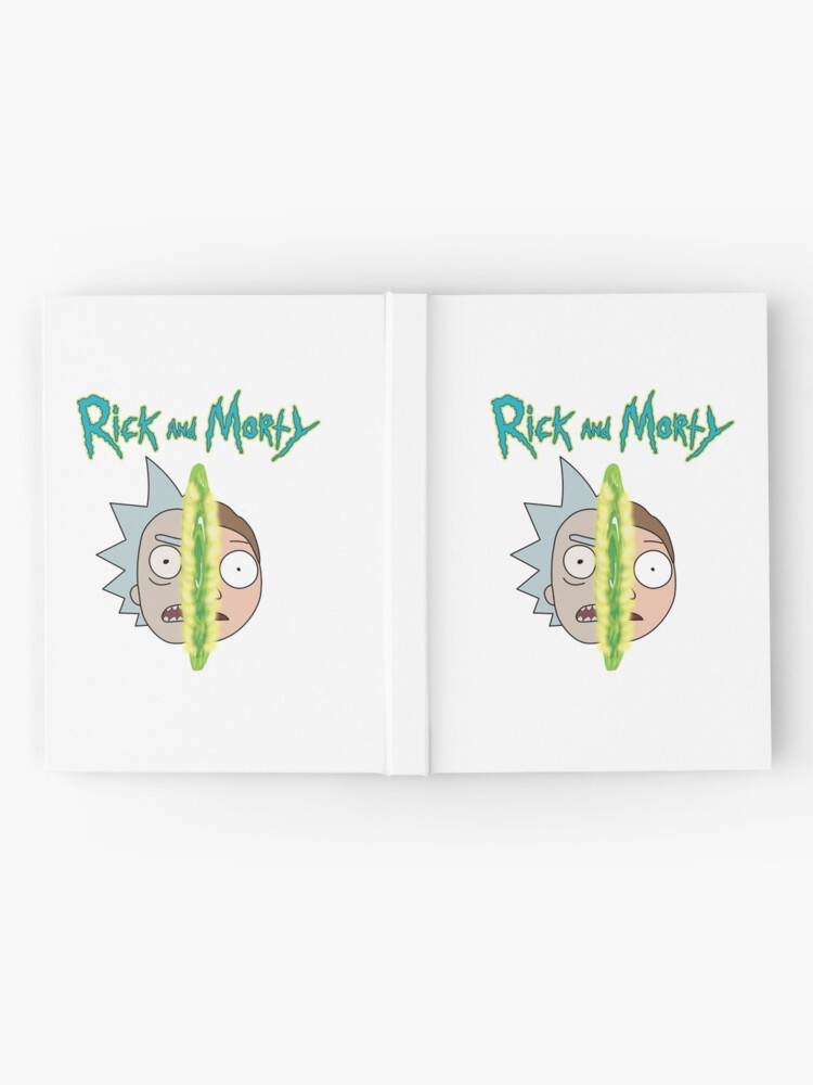 Alternate view of Rick and Morty face off Hardcover Journal