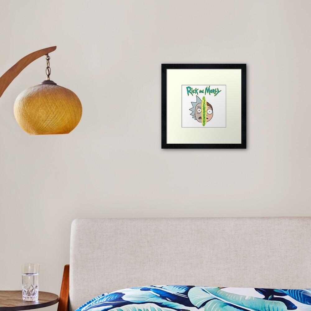 Rick and Morty face off Framed Art Print