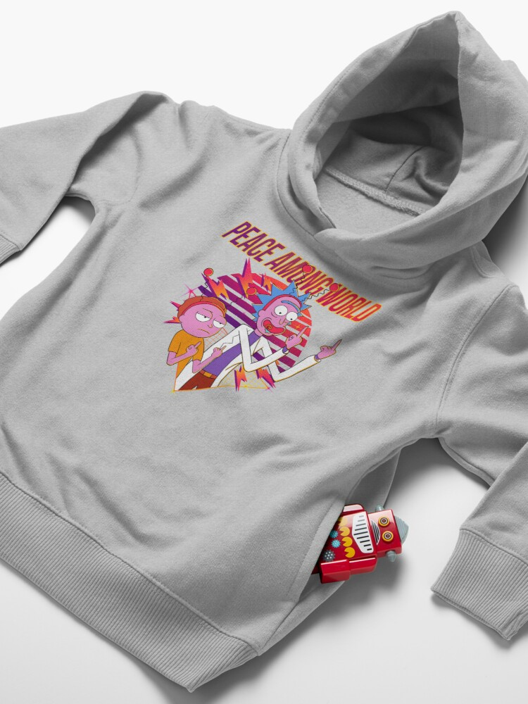 Alternate view of peace among world rick and morty Toddler Pullover Hoodie