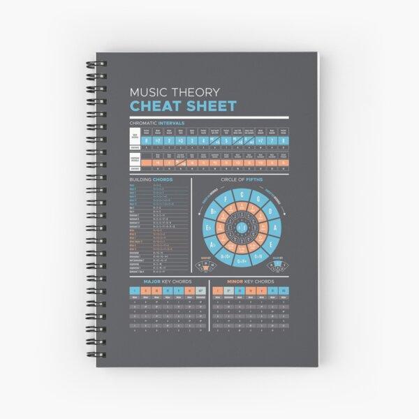 Music Theory Cheat Sheet Spiral Notebook