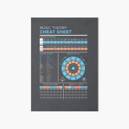 Music Theory Cheat Sheet Art Board Print
