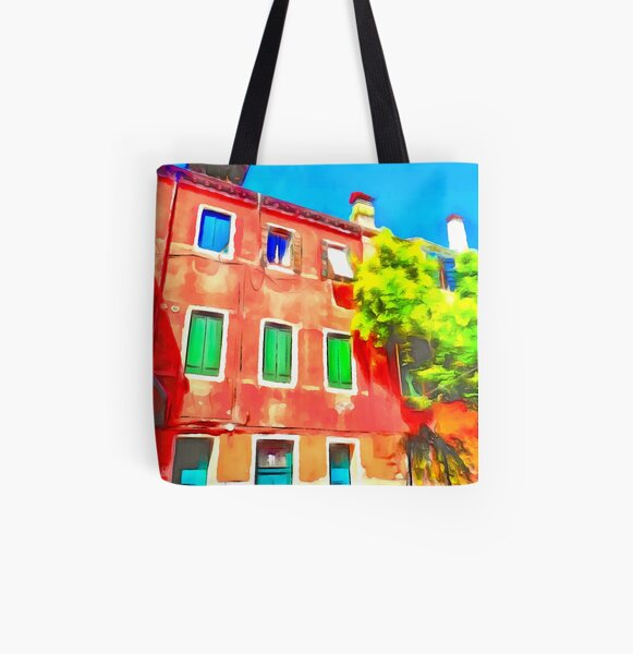 Colour in Venice All Over Print Tote Bag