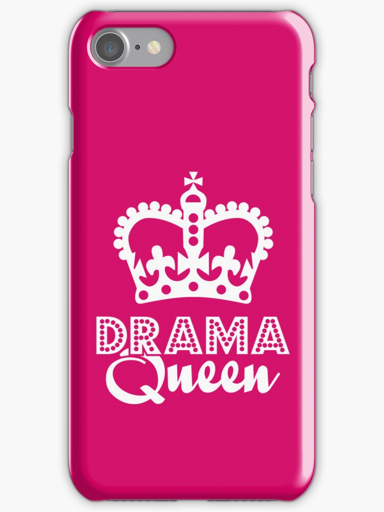 Drama Queen iPhone case by DetourShirts