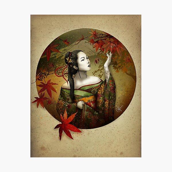 momijigari (Maple viewing) Photographic Print