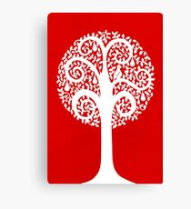 partridge in a pear tree - red Canvas Print