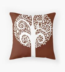 partridge in a pear tree - brown Throw Pillow