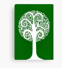 partridge in a pear tree - green Canvas Print