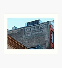 Ghost Sign - Sam Ball and Son, New Orleans  Art Print