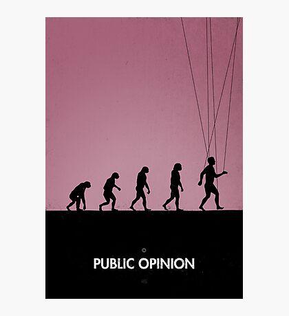 99 Steps of Progress - Public opinion Photographic Print