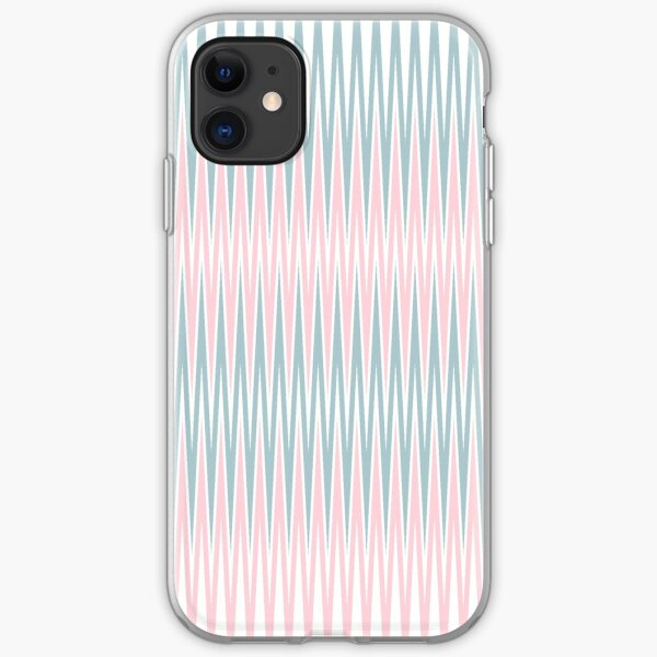 Pastel Pink and Blue Pattern Tight iPhone Soft Case
