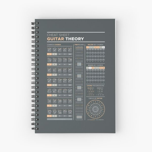 Music Theory for Guitar Cheat Sheet Spiral Notebook
