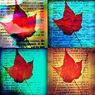 4x4 leaf collage by ShellyKay