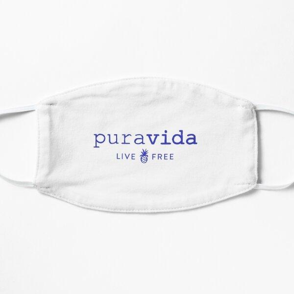Blue Puravida Logo Sticker Flat Mask