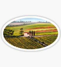 Tuscany - Vineyards Sticker