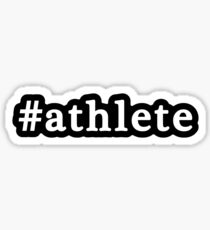 Athlete - Hashtag - Black & White Sticker
