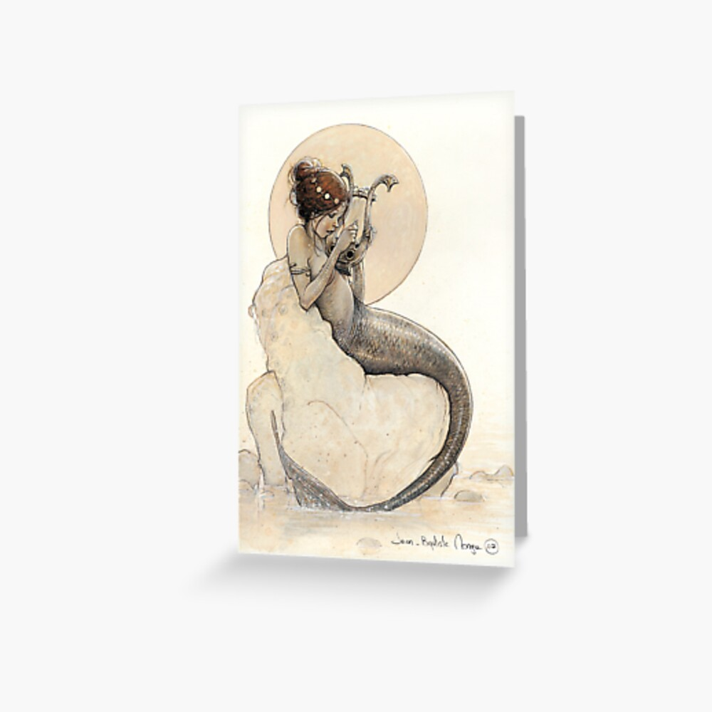 The Mermaid in the Moon Greeting Card