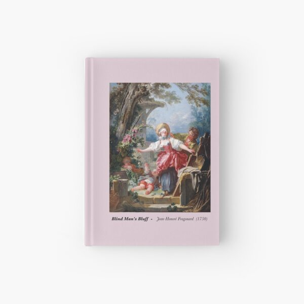 "Fragonard Painting ""Blind Man's Bluff""  Hardcover Journal"