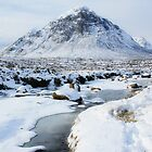 Snowy Buachaille Etive Mor by Thistle Images