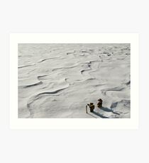 Winter Hike Art Print
