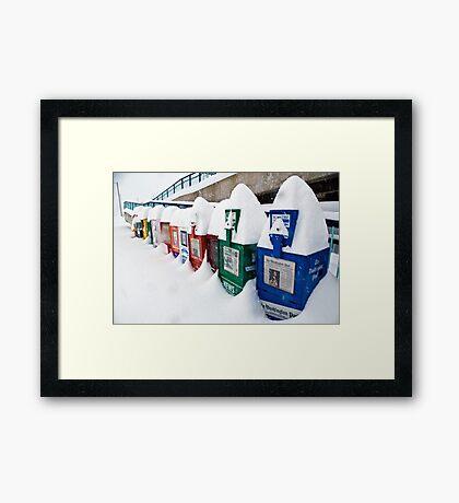 It Snowed in Manassas Framed Print