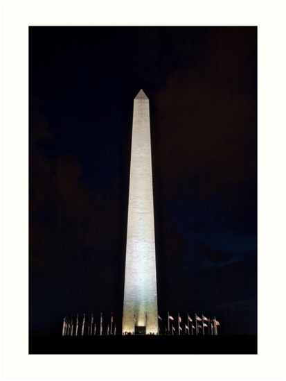 Washington Monument @ Night by Dan Phelps
