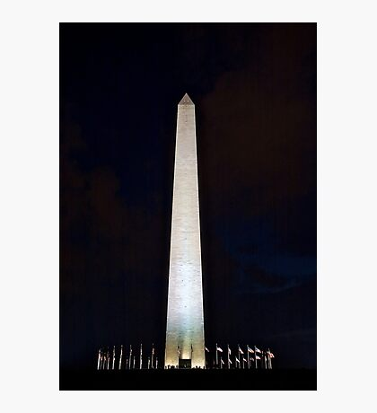 Washington Monument @ Night Photographic Print