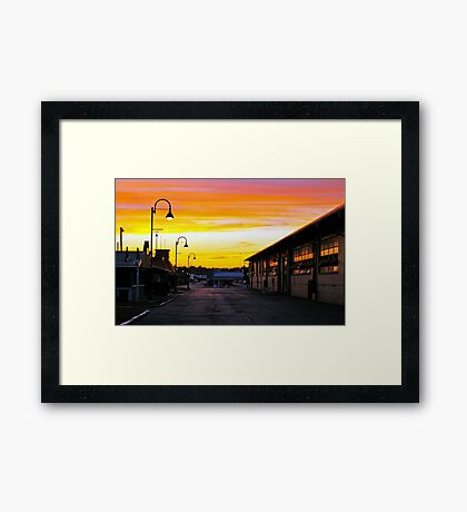 Twilight at the Fairgrounds Framed Print