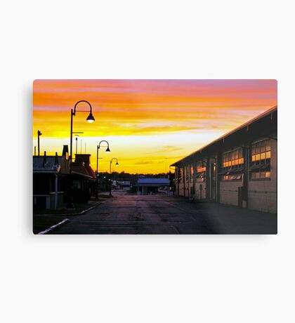 Twilight at the Fairgrounds Metal Print