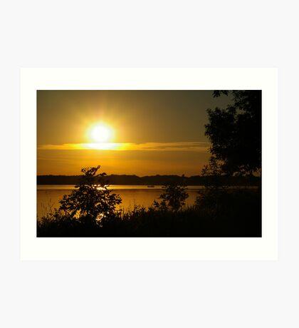 Onondaga Lake Sunset Art Print